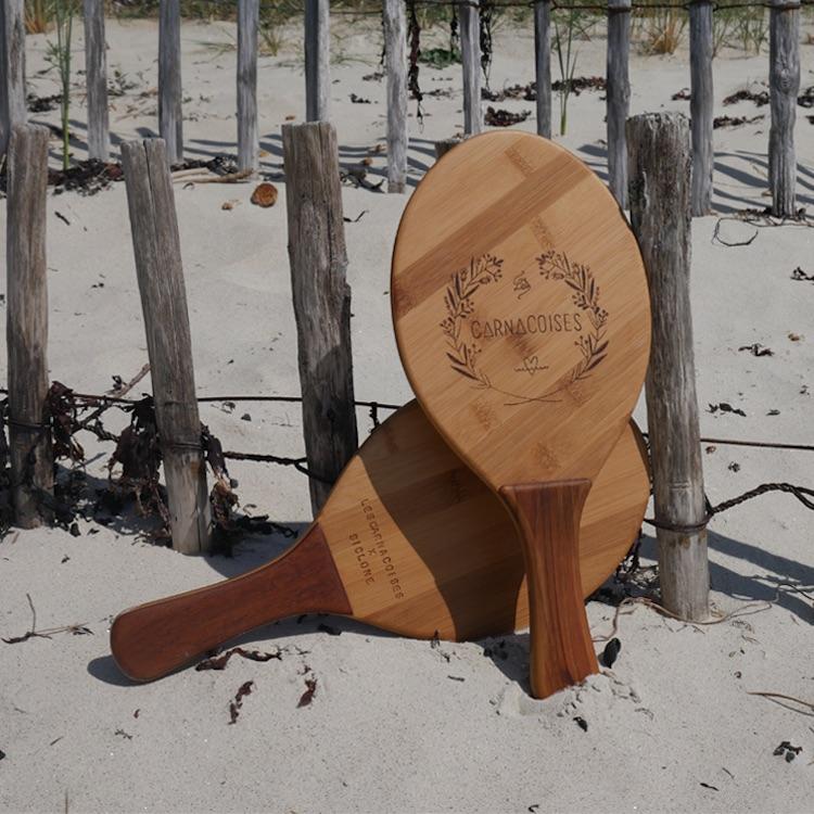 Raquettes de plage bois Les Carnacoises X Siclone