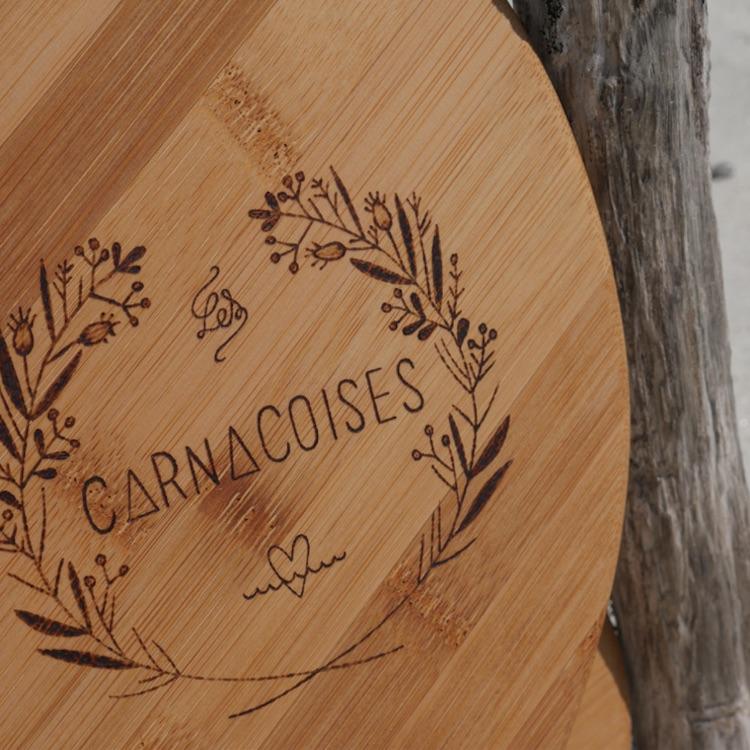 Raquettes de plage bois Lescarnacoises Logo