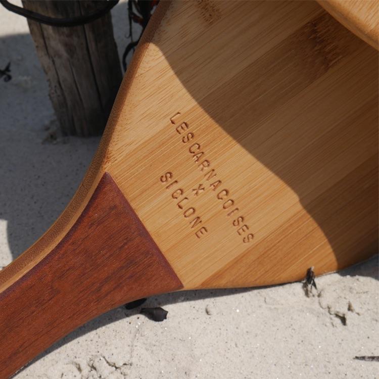Raquettes de plage bois Lescarnacoises X Siclone zoom
