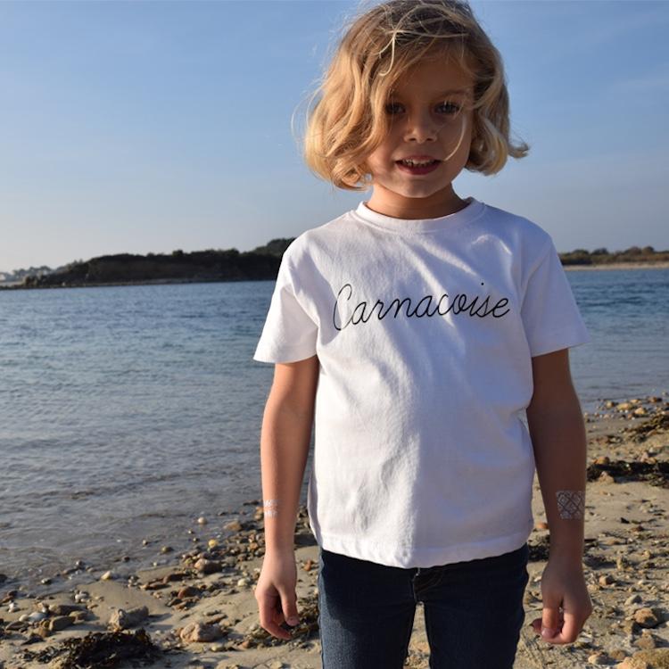 T-shirt enfant blanc Carnacoise